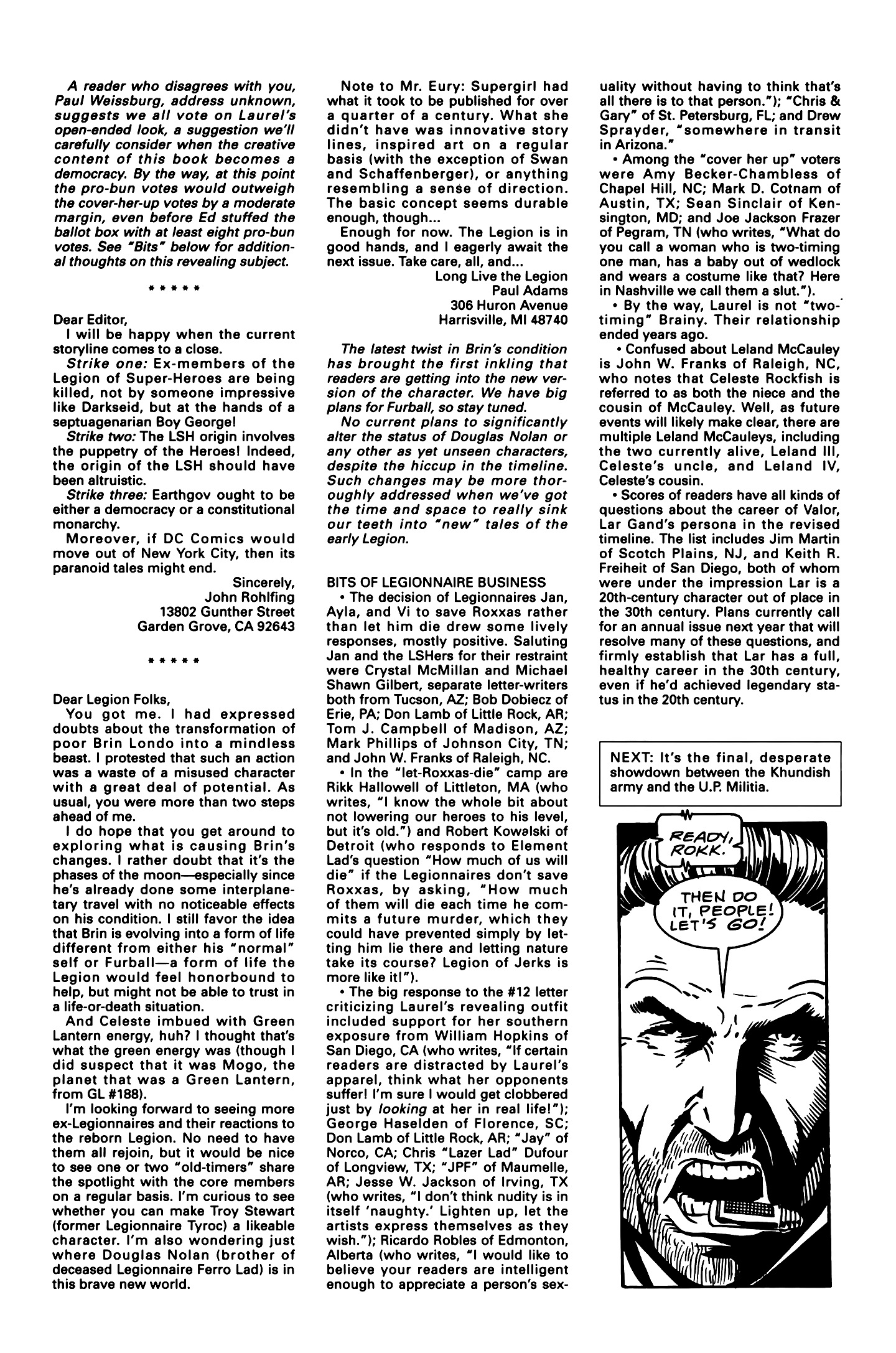 Legion of Super-Heroes (1989) 16 Page 27