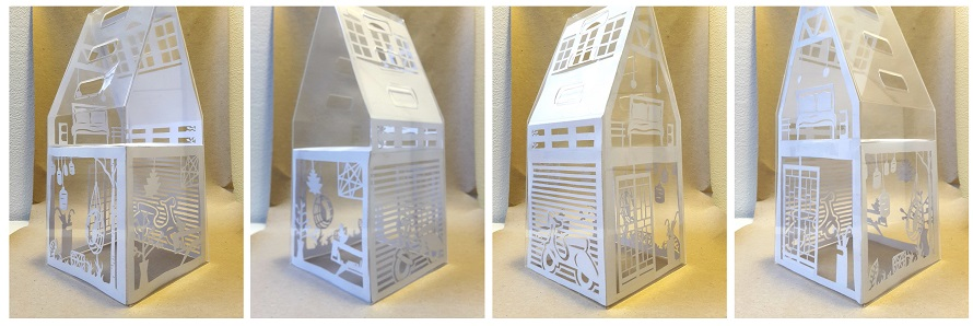paper cutting dolls house