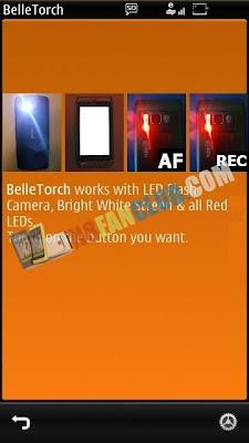 Belle Torch 1 5 for Nokia N8 & Belle smartphones