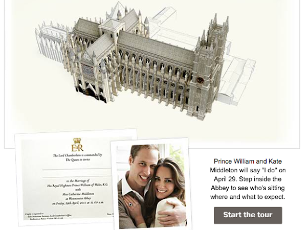 3-D tour of Westminster Abbey - Royal Wedding Venue