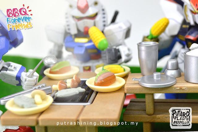 "SD EX-STANDARD GUNDAM Custom ""BBQ Forever Friends"" by Putra Shining"