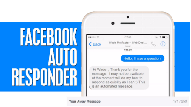 [How to] Set up an auto-reply in Facebook messaging [Free]