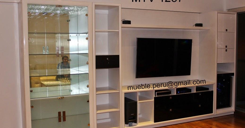 Muebles tv modernos centros de entretenimiento for Muebles modernos 2015