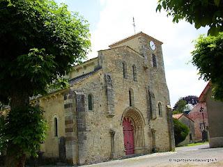 Eglise saint Médulphe de saint Myon. Façade ouest