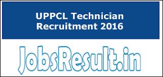 UPPCL Technician Recruitment 2016
