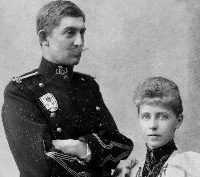 le futur roi Ferdinand de Roumanie et sa fiancée