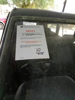 Tak Bayar Pajak Kendaraan Disita