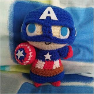 patron amigurumi Capitán América the duchess hands