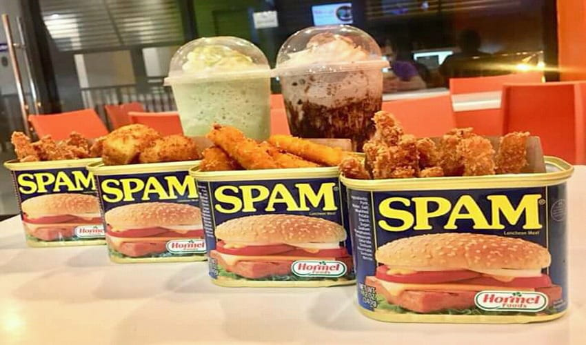 Spam food items at Dip 'N' Chill