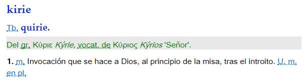 Kirie - definición