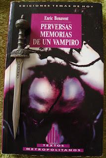 Portada del libro Perversas memorias de un vampiro, de Enric Benavent
