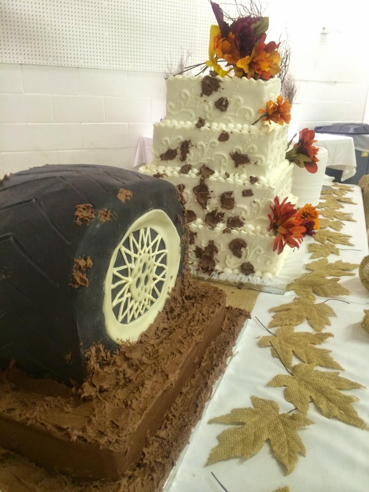 the mcclanahan 7 3d tire wedding cake weddingcake 3dtire lisacay. Black Bedroom Furniture Sets. Home Design Ideas