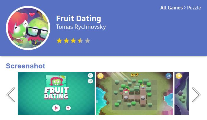 Fruit Dating at Tizen Store