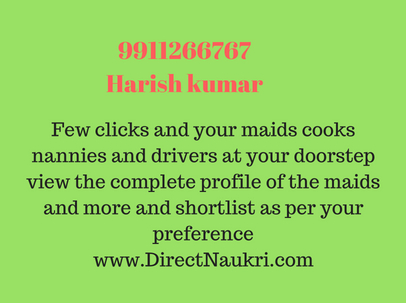 Hire Child & Elderly Care Services , maid cook nanny office assistant  9911266767