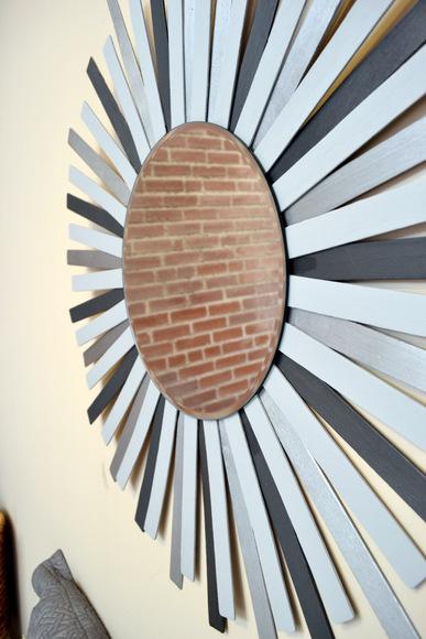 DIY Paint Stick Sunburst Mirror