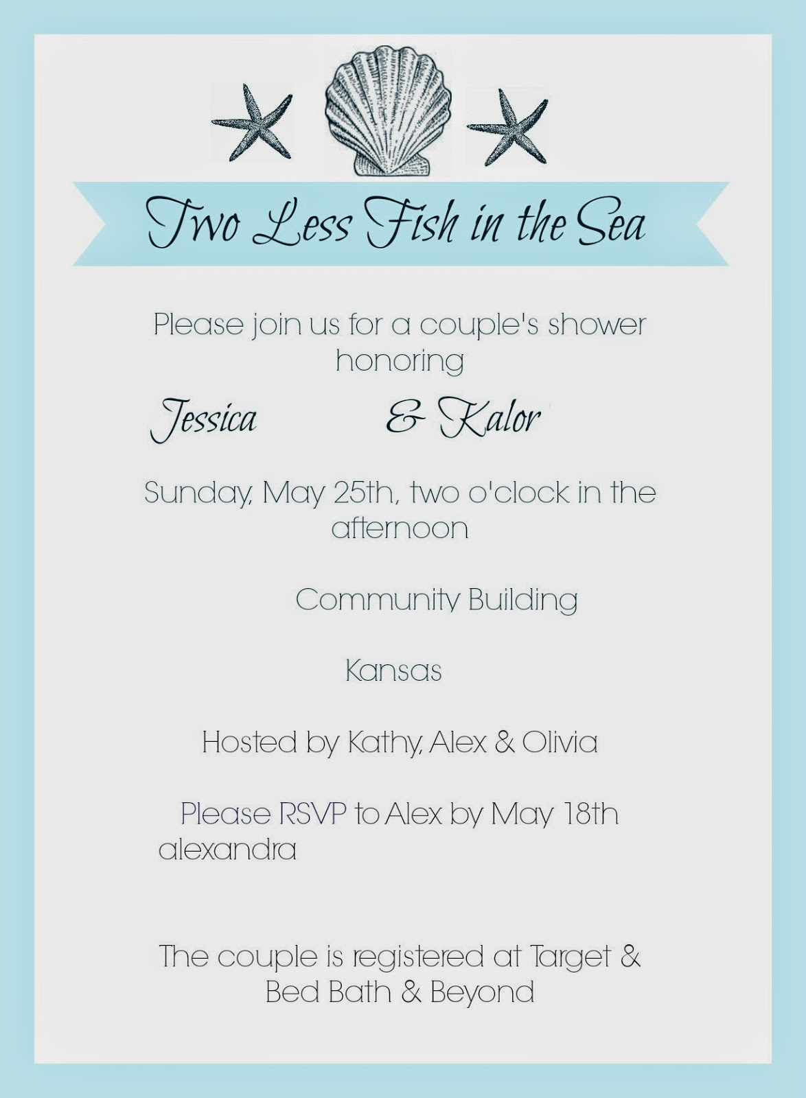 de3fb201d949 My Favorite Things  Jess s Beach Themed Wedding Shower    MOH    May ...