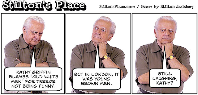 stilton's place, stilton, political, humor, conservative, cartoons, jokes, hope n' change, terror, london, kathy griffin