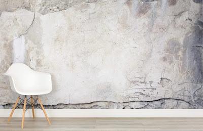betongtapet ljus grå sliten spricka fototapet betongvägg