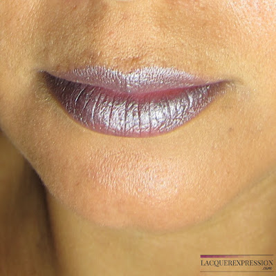 lipstick swatch of Color Sensational Matte Metallic Lip Color - Smoked Silver from Maybelline New York