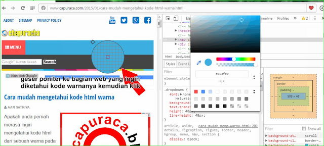 Cara mudah mengetahui kode html warna,kode html warna,