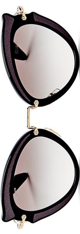 Miu Miu Cat Eye Sunglasses in Black