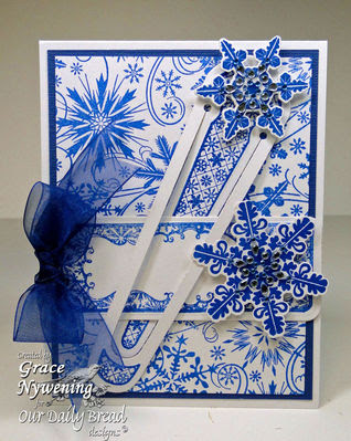 Our Daily Bread Designs Stamps - Bookmarks Snowflakes, Sparkling Snowflakes, Snowflake Background, Snowflakes Die, Bookmark Dies