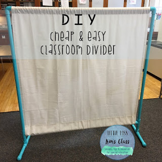 DIY Classroom Divider with PVC Pipe