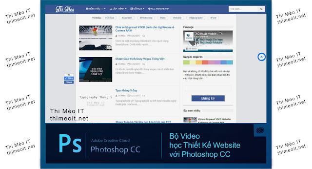 bộ Video học Thiết kế Website với Photoshop CC