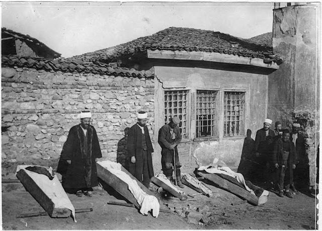 Victims of poison gas Bombardment in Bitola during the First World War