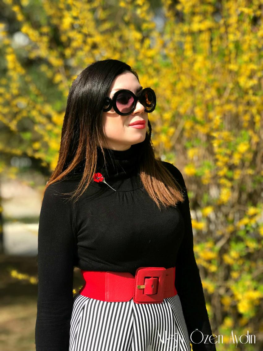 mavi kemer-kırmızı kemer-fashion blogger-moda blogu