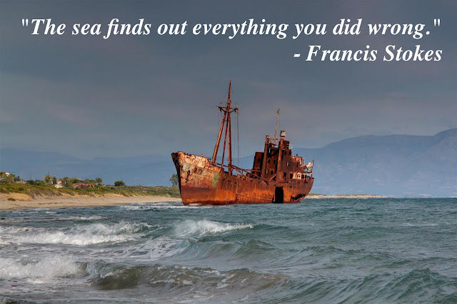 Dimitrios Shipwreck, Greece. Stranded in December 23, 1981. The sea finds out everything you did wrong. Francis Stokes Cross Sea Waves marchmatron.com