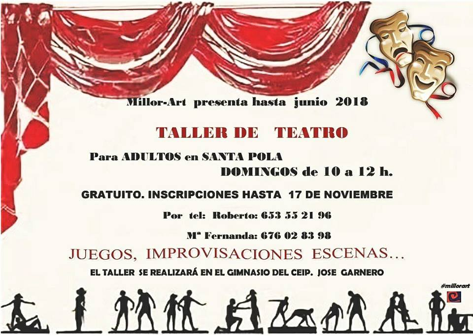 Taller de Teatro para Adultos Gratuito - Millor-Art Santa Pola