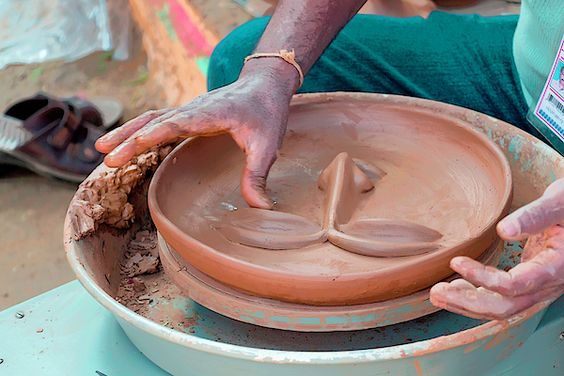 Preparing a clay mask - Prints on Fine Art America