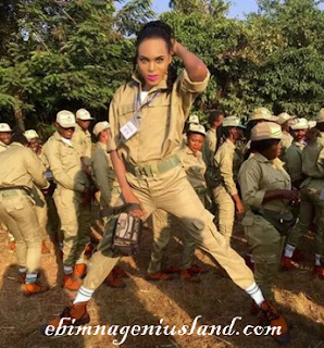 Male NYSC Member With Makeup On His Handsome Attire-Trending News!!!