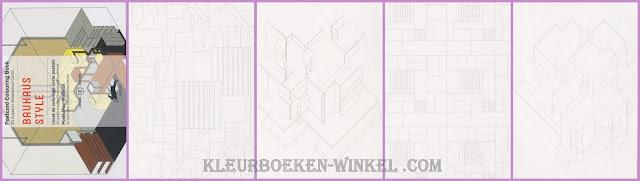 kleurboek PK 13 bauhaus style