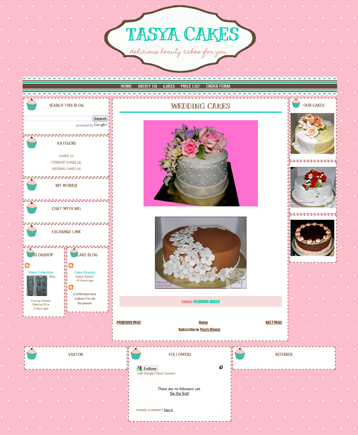 Cake Price List Template image detail for cake price list cakes – Sample Price List Template