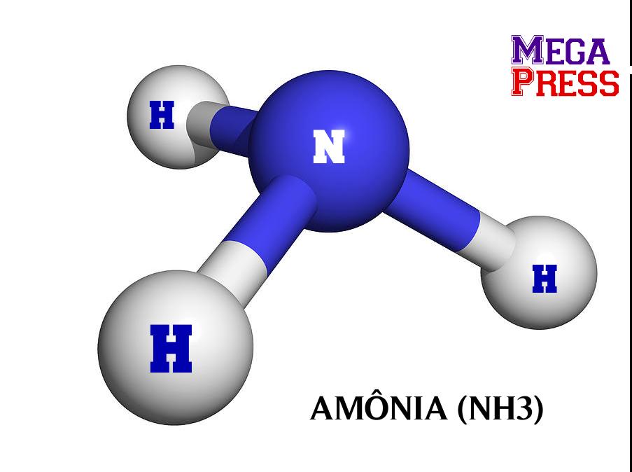 Amônia (NH3), Gás Incolor
