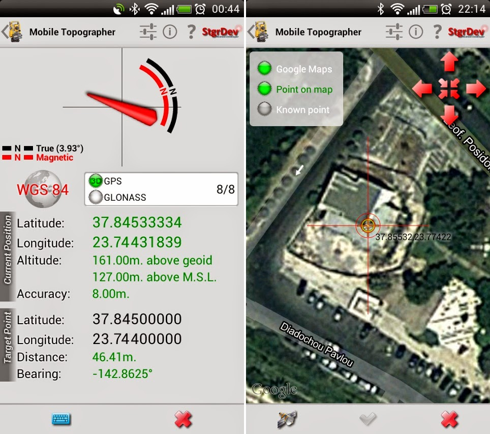 mobile topographer gratuit