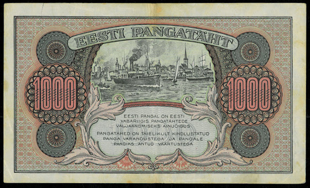 Estonian old banknotes money currency images
