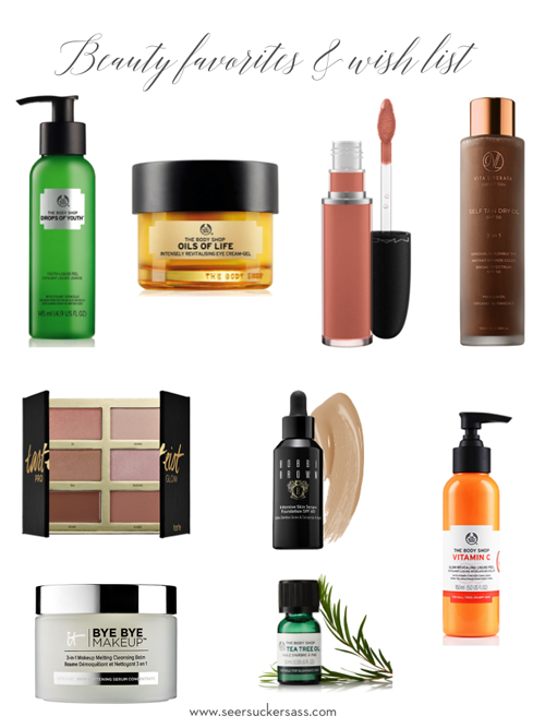 Current Beauty Favorites & Wishlist