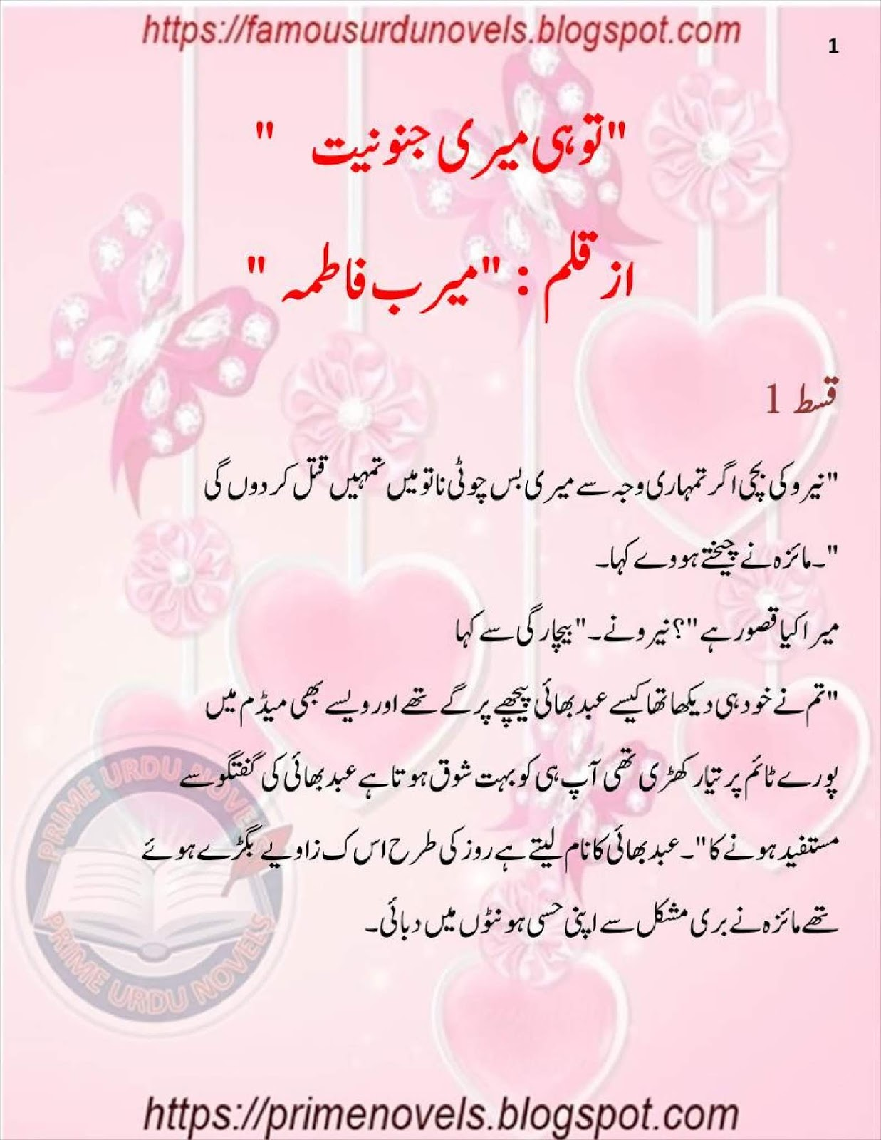Tu He Meri Junooniyat Novel By Meerab Fatima Kidnapping