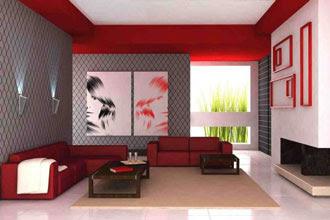 warna cat ruang tamu 2 warna yang baik