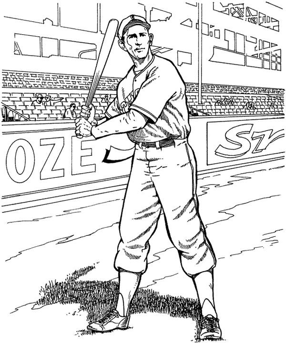 coloring pages baseball player - photo#22