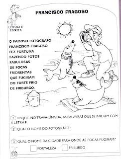 Foca - Atividades de alfabetização e atividades para imprimir 2