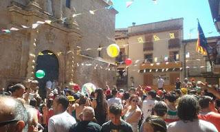 Chupinazo, gaseosada, Beceite, Beseit, fiestas mayores, 2016