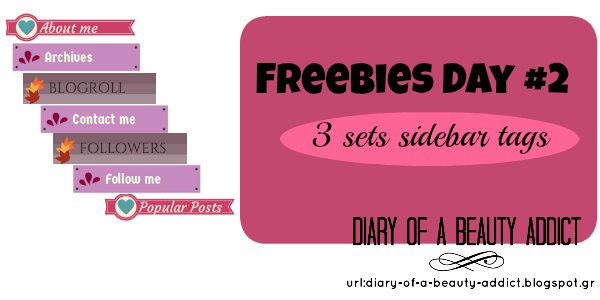 Freebies Day #2: 3 sets sidebar tags