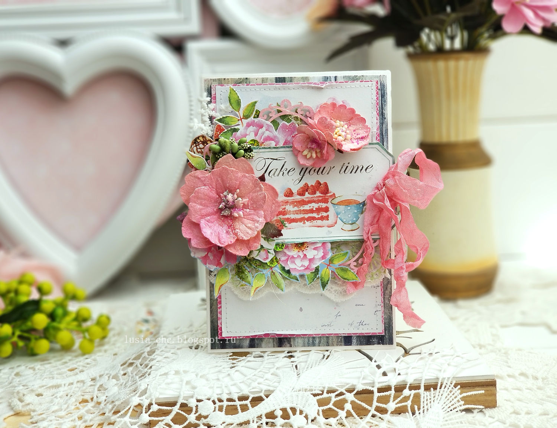 Несет, открытка со сладостями скрапбукинг