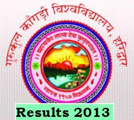 Gurukul Kangri University P.G Diploma and B.Tech Repeat 1st Year Results 2014