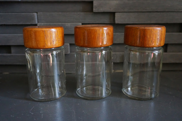 60s teak canisters