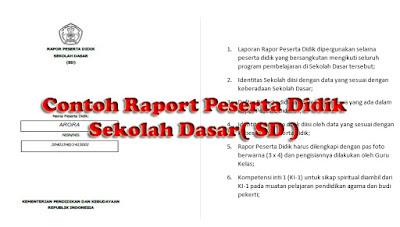 bentuk dan format laporan hasil mencar ilmu akseptor didik pada kurikulum  Download Contoh Raport Kurikulum 2013 SD Lengkap